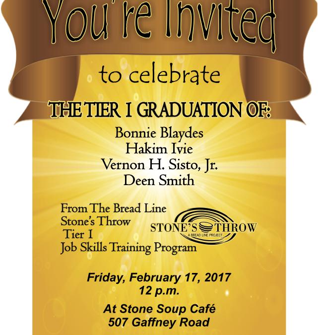 Tier 1 Graduation at Stone's Throw